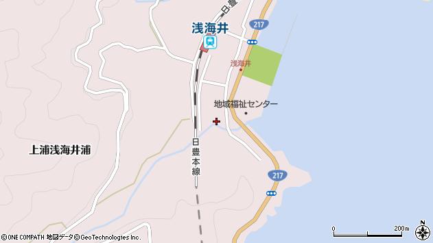 大分県佐伯市上浦大字浅海井浦539周辺の地図