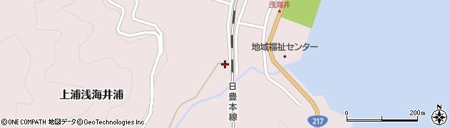 大分県佐伯市上浦大字浅海井浦553周辺の地図