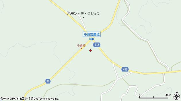 大分県竹田市久住町大字栢木547周辺の地図