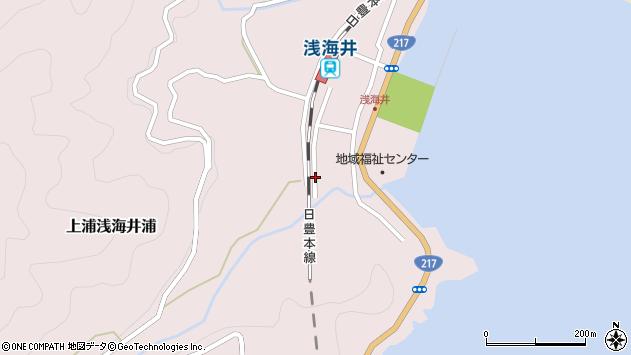 大分県佐伯市上浦大字浅海井浦548周辺の地図