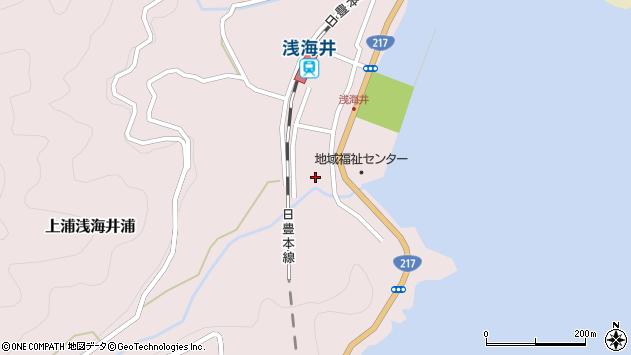 大分県佐伯市上浦大字浅海井浦532周辺の地図