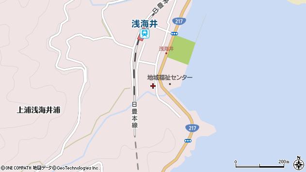 大分県佐伯市上浦大字浅海井浦533周辺の地図