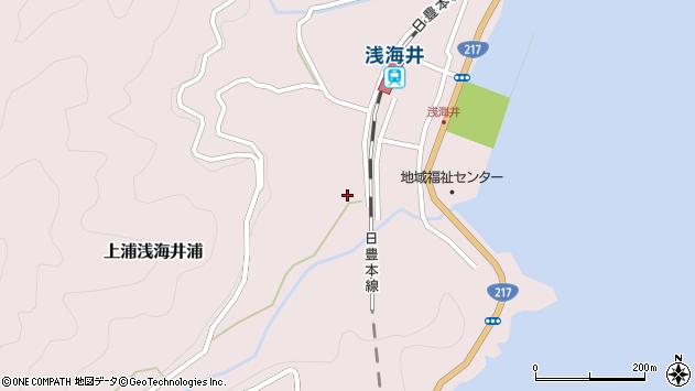 大分県佐伯市上浦大字浅海井浦571周辺の地図