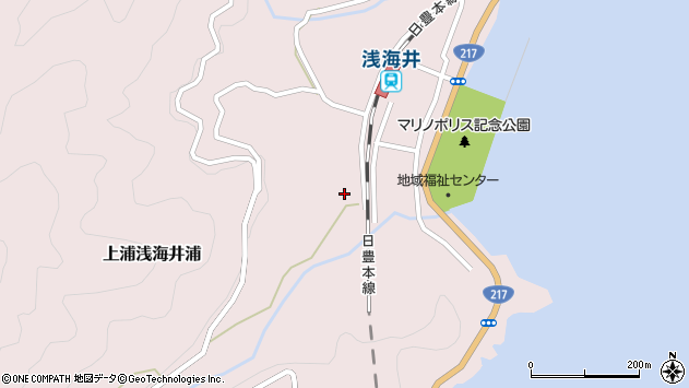 大分県佐伯市上浦大字浅海井浦581周辺の地図