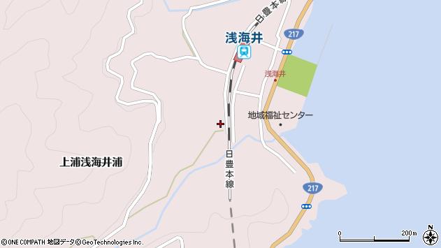 大分県佐伯市上浦大字浅海井浦589周辺の地図