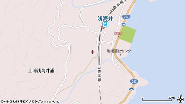 大分県佐伯市上浦大字浅海井浦578周辺の地図