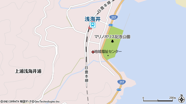 大分県佐伯市上浦大字浅海井浦525周辺の地図