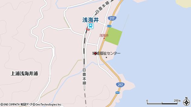 大分県佐伯市上浦大字浅海井浦527周辺の地図