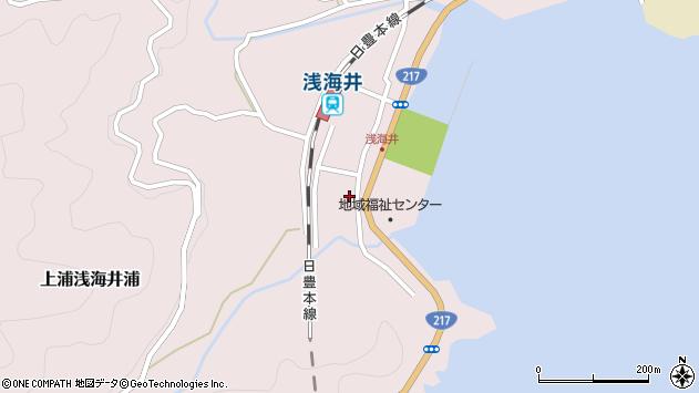 大分県佐伯市上浦大字浅海井浦周辺の地図