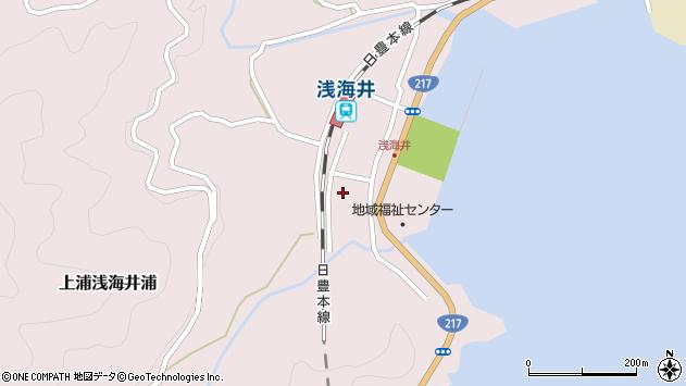 大分県佐伯市上浦大字浅海井浦512周辺の地図