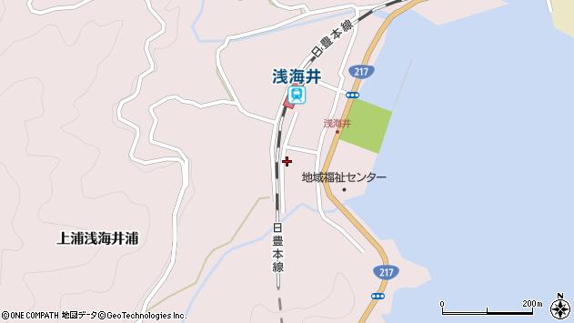 大分県佐伯市上浦大字浅海井浦508周辺の地図