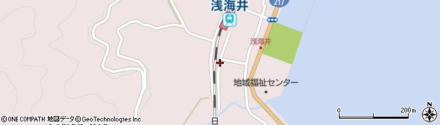 大分県佐伯市上浦大字浅海井浦498周辺の地図