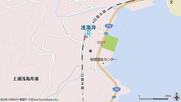 大分県佐伯市上浦大字浅海井浦493周辺の地図
