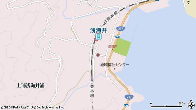 大分県佐伯市上浦大字浅海井浦495周辺の地図