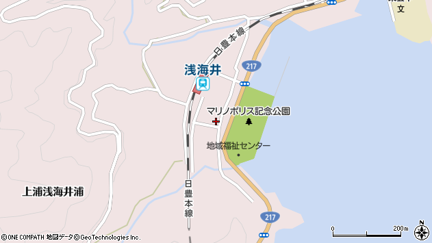 大分県佐伯市上浦大字浅海井浦488周辺の地図