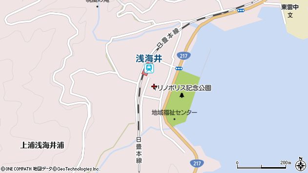大分県佐伯市上浦大字浅海井浦471周辺の地図