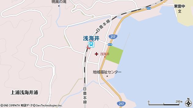 大分県佐伯市上浦大字浅海井浦465周辺の地図