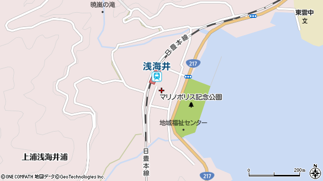 大分県佐伯市上浦大字浅海井浦466周辺の地図