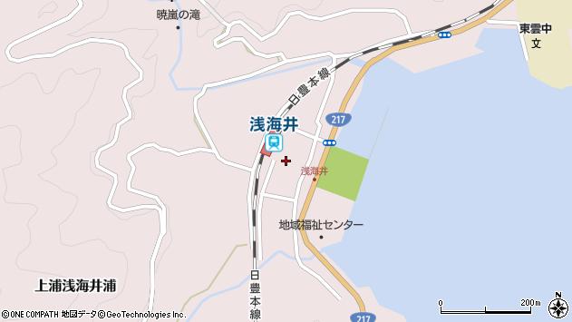 大分県佐伯市上浦大字浅海井浦452周辺の地図