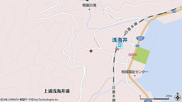 大分県佐伯市上浦大字浅海井浦1745周辺の地図