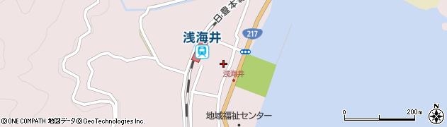 大分県佐伯市上浦大字浅海井浦458周辺の地図