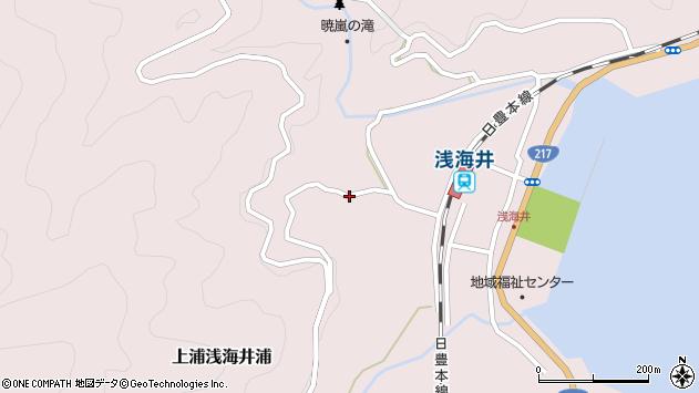 大分県佐伯市上浦大字浅海井浦1740周辺の地図