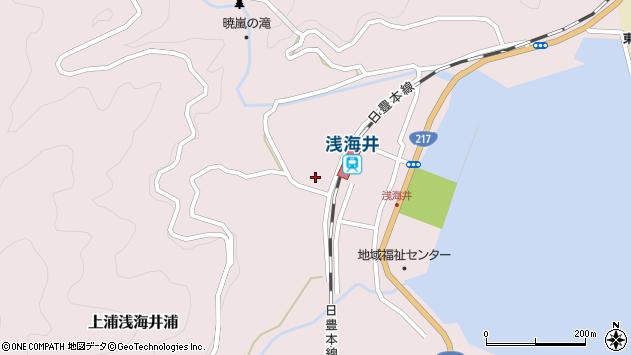 大分県佐伯市上浦大字浅海井浦654周辺の地図