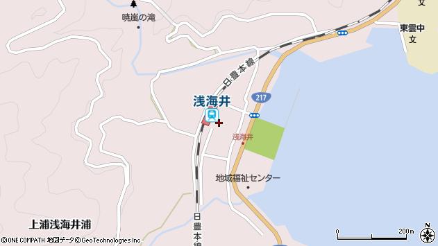 大分県佐伯市上浦大字浅海井浦451周辺の地図