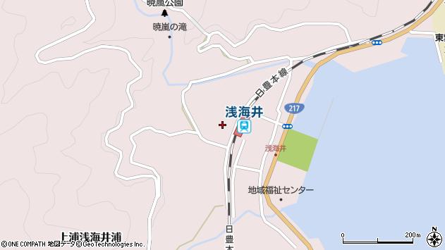 大分県佐伯市上浦大字浅海井浦438周辺の地図
