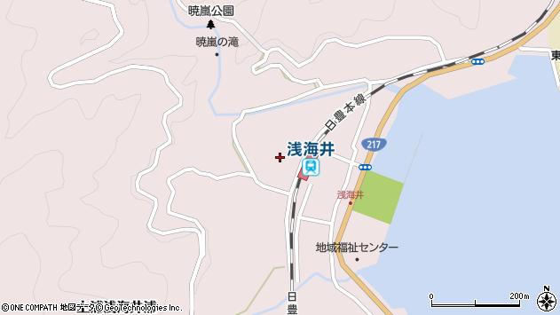 大分県佐伯市上浦大字浅海井浦437周辺の地図