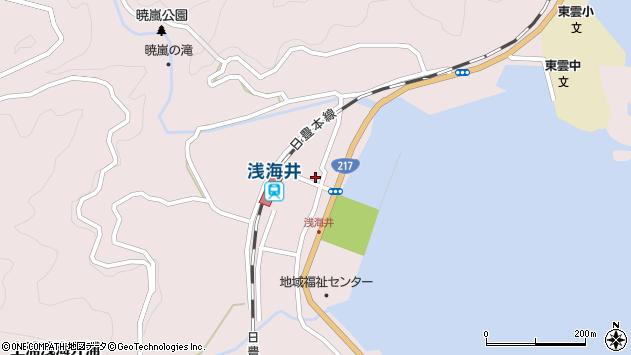 大分県佐伯市上浦大字浅海井浦398周辺の地図
