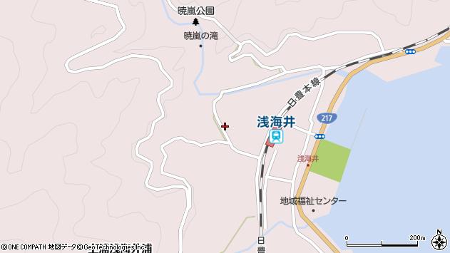 大分県佐伯市上浦大字浅海井浦666周辺の地図