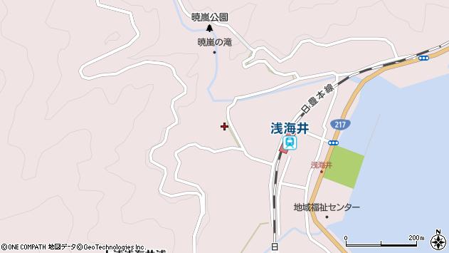 大分県佐伯市上浦大字浅海井浦1582周辺の地図