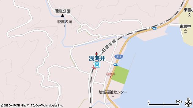 大分県佐伯市上浦大字浅海井浦298周辺の地図