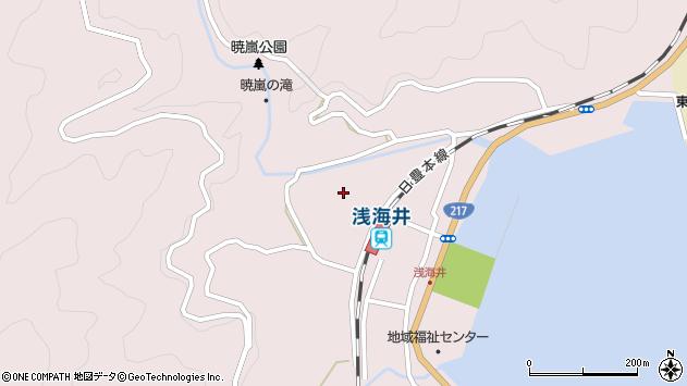 大分県佐伯市上浦大字浅海井浦418周辺の地図