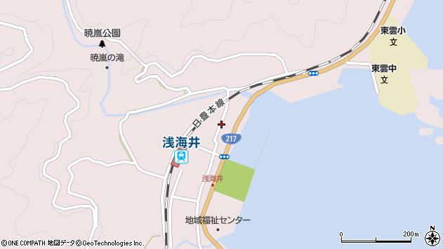 大分県佐伯市上浦大字浅海井浦363周辺の地図