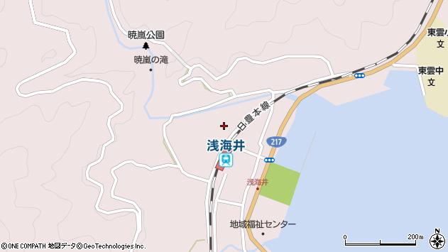 大分県佐伯市上浦大字浅海井浦297周辺の地図