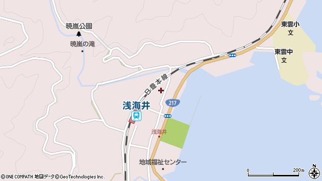 大分県佐伯市上浦大字浅海井浦362周辺の地図