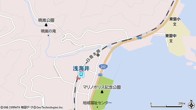 大分県佐伯市上浦大字浅海井浦345周辺の地図