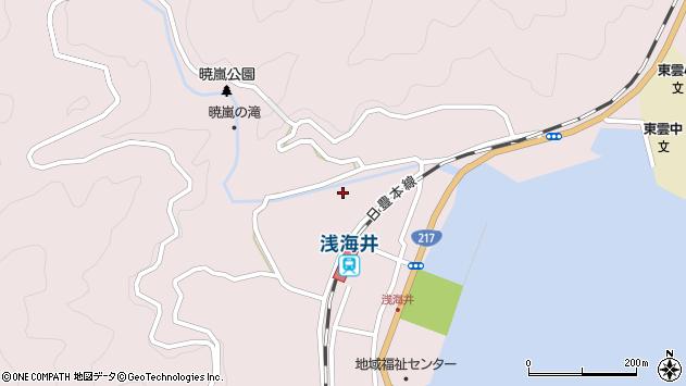 大分県佐伯市上浦大字浅海井浦308周辺の地図