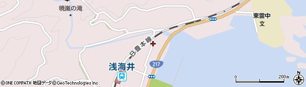大分県佐伯市上浦大字浅海井浦334周辺の地図