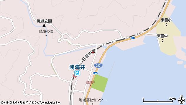 大分県佐伯市上浦大字浅海井浦346周辺の地図