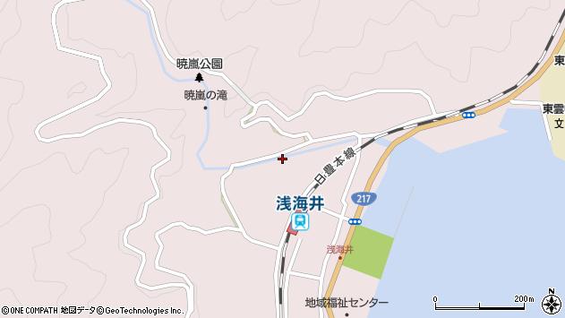 大分県佐伯市上浦大字浅海井浦312周辺の地図