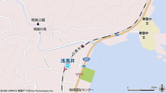 大分県佐伯市上浦大字浅海井浦333周辺の地図