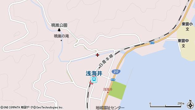 大分県佐伯市上浦大字浅海井浦321周辺の地図