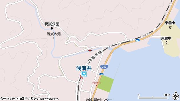 大分県佐伯市上浦大字浅海井浦322周辺の地図
