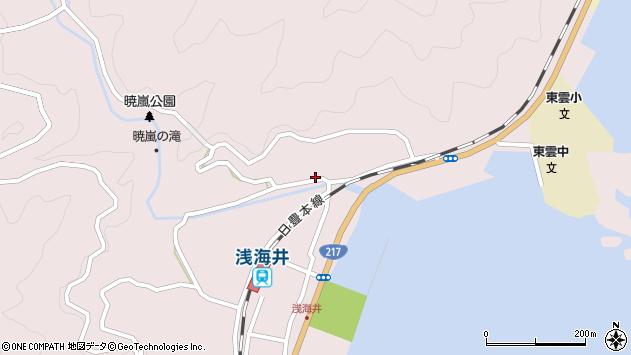 大分県佐伯市上浦大字浅海井浦228周辺の地図