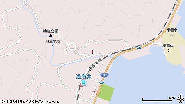 大分県佐伯市上浦大字浅海井浦231周辺の地図