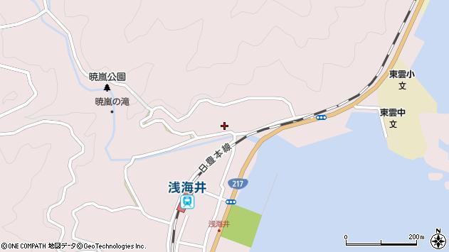 大分県佐伯市上浦大字浅海井浦217周辺の地図