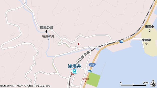 大分県佐伯市上浦大字浅海井浦244周辺の地図